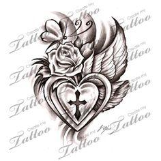 Marketplace Tattoo Divine Heart #12771 | CreateMyTattoo.com
