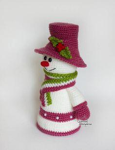 Snowman amigurumi crochet Christmas pattern pdf