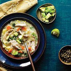 Potato, Corn, and Chicken Stew (Ajiaco) | MyRecipes.com #myplate #protein #veggies