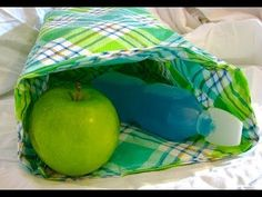 Tablecloth Lunch Bag - YouTube Better IDea for putting together Sides of a bag.  with a seaprate bottom