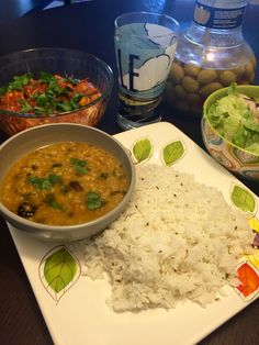 Dal and Rice .