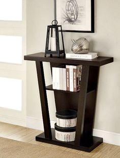 Wood Hall Console Table Sofa Side Storage Shelf Enryway Accent Unit Furniture for sale online Storage Shelves, Shelf, Hall Console Table, Hardwood Furniture, Pine, Drawers, Sofa, The Unit, Contemporary