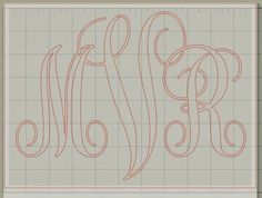 Awesome FREE font for monograms! #fonts #monogramfonts #monogram | www.silhouetteschool.blogspot.com