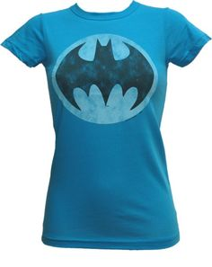 Ladies classic Batman t-shirt, blue