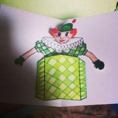 Popupkarte Clown