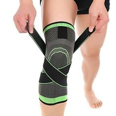 5af59c7e15 3D Weaving Knee Brace Breathable Support for Running Jogging Sports Joint  Pain Relief Arthritis and Injury Recovery-Single Wrap (L)
