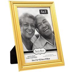 Special Moments Gold Plastic Grooved 5x7-in. Photo Frames