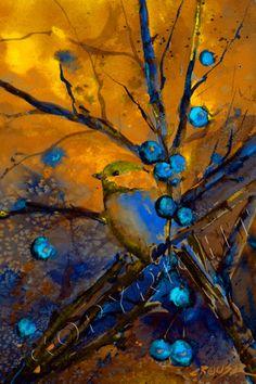 GOLDEN CHICKADEE - by Dean Crouser