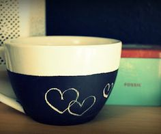 DIY: 30+ Simple Mug Art Tutorials And Ideas | the perfect line