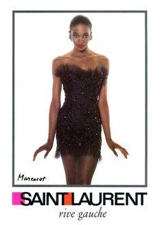 1987 - Naomi Campbell for Yves Saint Laurent Rive Gauche adv