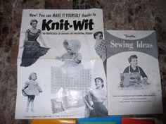 6 Vintage Paper Ephemera SEWING Aid Booklets from by Twiceasgood, $25.00