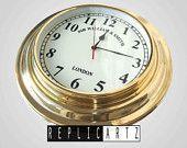 SIR WILLIAM SMITH brass wall clock replisa by replicartz on Etsy, $65.00 USD  www.replicartz.com
