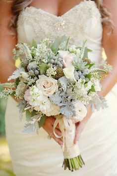 This bouquet is perfect for spring, summer, fall or winter! // Photo by Julie Roberts  #wedding #weddingbouquets #castletonfarms #weddingideas #weddingphotos