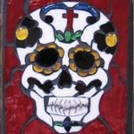 Dia de Los Muertos Mosaic or Stained Glass Panel made with the Precison 2000 Band Saw