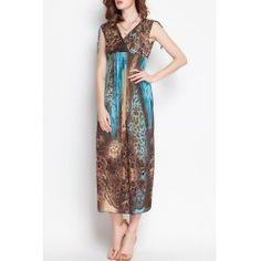 Stylish V-Neck Sleeveless Chiffon Printed Women's Maxi Dress from $13.98 by NASTYDRESS