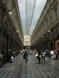The St. Hubert Gallery is a glass-covered shopping arcade in the centre of Brussels.