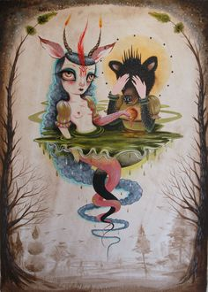 "'Conjure of Light' Acrylic on paper, 17"" x 24"", 2011 by Jennybird Alcantara"
