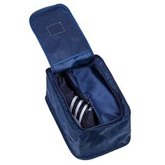 UBORSE Waterproof Travel Shoe Bag Organizer Holder 2 Pairs of Shoes With Zipper Closure and Handle Blue ** Check out the image by visiting the link. (Note:Amazon affiliate link)