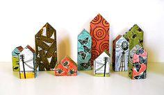 Wood block houses