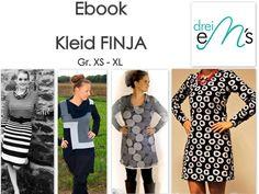 Nähanleitungen Mode - ebook Kleid FINJA Gr.XS - XL - ein Designerstück von dreiems-Materialshop bei DaWanda