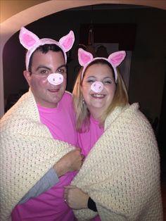 Pigs in a blanket Halloween costume!