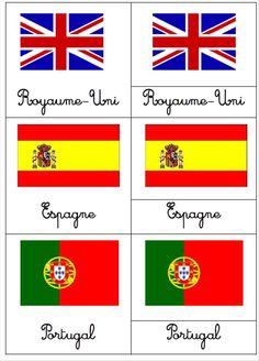 Cartes de nomenclatures : les drapeaux - Loustics