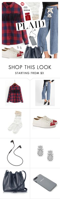 """""""Plaid Shirt"""" by pokadoll ❤ liked on Polyvore featuring Charlotte Olympia, B&O Play, Lancaster and Bella Freud"""