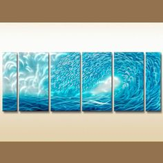 Ocean Waves Metal Wall Art