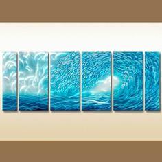 Ocean Waves Metal Wall Art