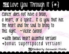 KG Love You Through It font by Kimberly Geswein Fonts.  Free for personal use.  Please pay for commercial use.