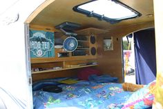 teardrop interior - since my RV dream will take forever to achieve, I've recently been looking into the teardrop campers for me & da pugs. This is a good pic of what the inside looks like. FUN!
