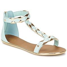 Ankle strap flat sandals in pastel and metallic, you can't get much more trendy than these by @dunelondon #shoes #sandals #flatshoes #dune #rubbersole #uk