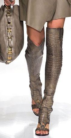 Taupe Fashion / Neutral / Salvatore Ferragamo