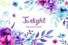 Watercolor Clipart Twilight - Illustrations