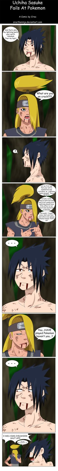 sasuke has never played pokemon :( by sractheninja on deviantart.com