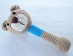 Teddy Bear Crochet Rattle