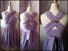 Infinity dress in lavender