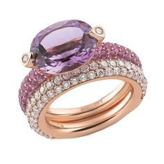 Amethyst and Diamond Ring by Al Coro