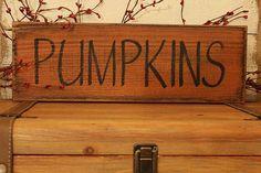 Fall decor, Pumpkin Sign on Cedar, Sign