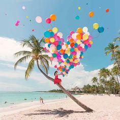 I ❤ tropical beaches ▪▪▪▪▪▪▪▪▪▪▪▪▪▪▪▪ #puntacana #clubmed #mexico #beachlife #bestbeaches #mexican #balloons #colourful #travelgram #lovetotravel #tropical #exotic #instatravel #travelgirl #girltravel #art #palmtree #ocean #sea #holiday #vacation #hippie #gypsy #nomad #boho #bohemian #lifestyle #bucketlist #centralamerica #heart ▪▪▪▪▪▪▪▪▪▪▪▪▪▪▪▪ 📸 @escapingyouth