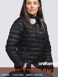 Ladies Mogul Puffa Jacket | SIMPJB(W) Product Description: A new innovation in High Tech Jacketing fabric is used to build this multi-seasonal garment. Its super packable lightness and streamlined narrow quilted hoops contour the fit to your body ensuring your mobility is always at its optimum level. FABRIC: 100% Nylon with Hi-tech Sustans®