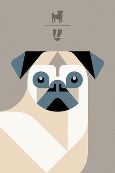 pug logo vector - Google Search