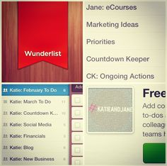 #App Love: The Wunder of Wunderlist! Find out all about our favourite to-do manager and how we use it for #katieandjane http://www.bykatieandjane.com/2014/02/app-love-wunder-of-wunderlist.html #blog #review