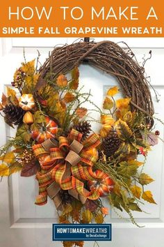 Easy Fall Wreaths, How To Make Wreaths, How To Make Bows, Types Of Bows, Bow Making, Wreath Supplies, Wreath Tutorial, Have Some Fun, Wow Products
