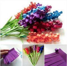 Swirly Paper Flowers Tutorial