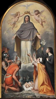 Category:Paintings of Virgin of Mercy - Wikimedia Commons Blessed Mother Mary, Blessed Virgin Mary, Jesus Mother, Catholic Art, Catholic Saints, Religious Images, Religious Art, Catholic Pictures, Jesus Christ Images