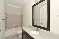 Black cabinets upper bathroom