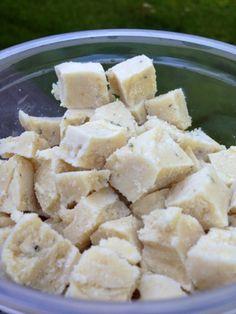 Homemade Vegan Feta Cheese Recipe from http://thecomfortingvegan.blogspot.com/2013/09/vegan-feta-cheese.html?m=1.