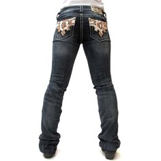 Miss Me Hair-On Hide Boot Cut Jeans JW7092B