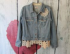 Jean Jacket  Women's Upcycled Clothes  by AmadiSloanDesigns, $55.00